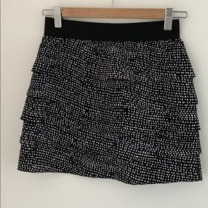 Aritzia - Central Park West polka dot ruffle skirt